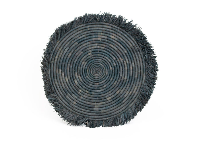 Carbon Large Fringed Placemat