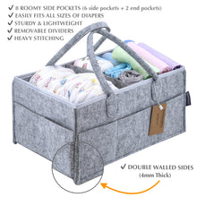 Load image into Gallery viewer, Baby Storage Caddy Organizer 15x10x7 Diaper Holder Car Nursery Craft Organizers