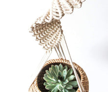 Load image into Gallery viewer, Handwoven Hanging Flower Pot Basket Tray