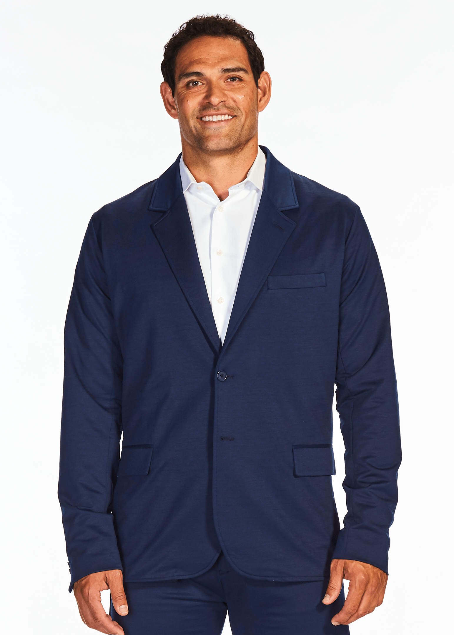 The Two Button Stretch Suit Jacket | Blue