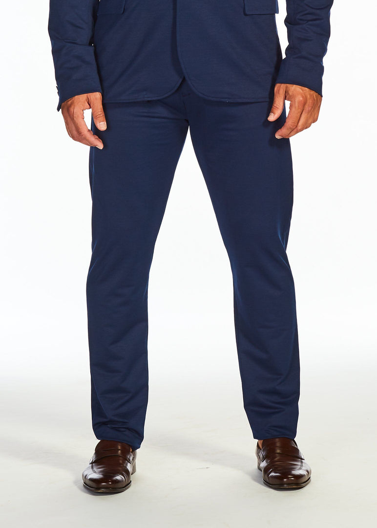 The Flat Front Stretch Suit Pants | Blue