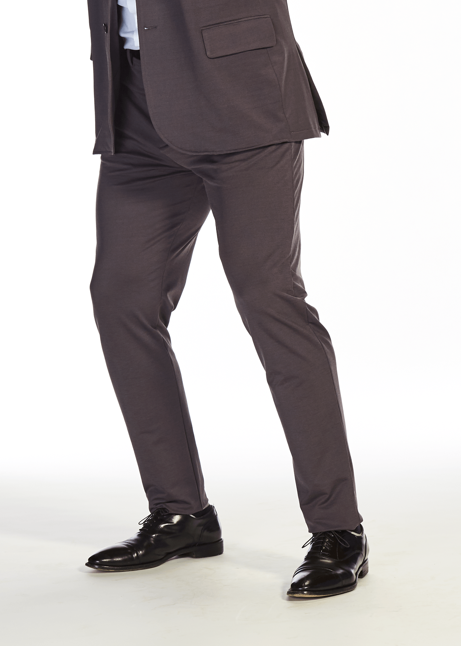 The Flat Front Stretch Suit Pants | Charcoal Grey