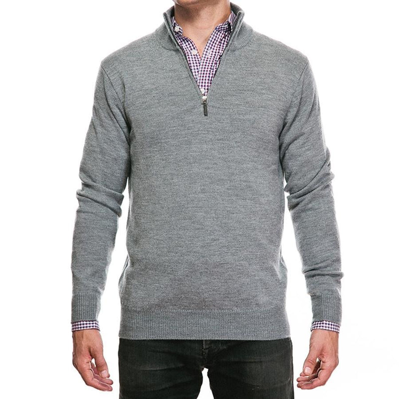Light Gray Cashmere Half Zip
