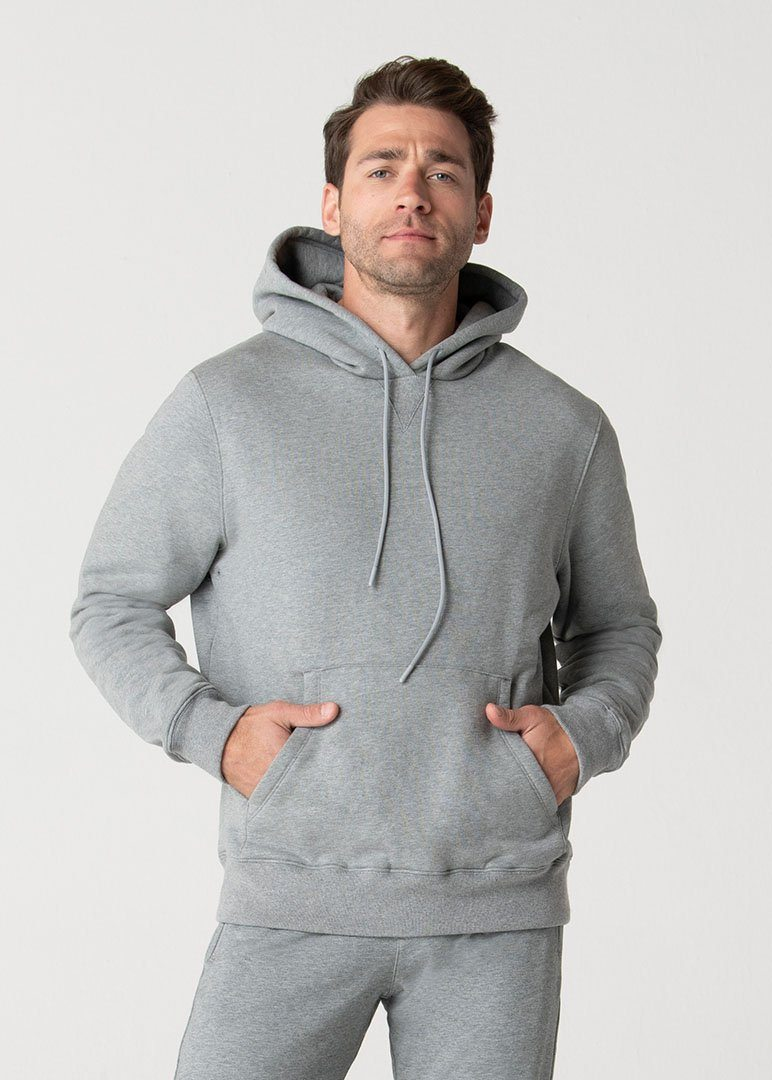 Heavy Fleece Hoodie | Heather Grey
