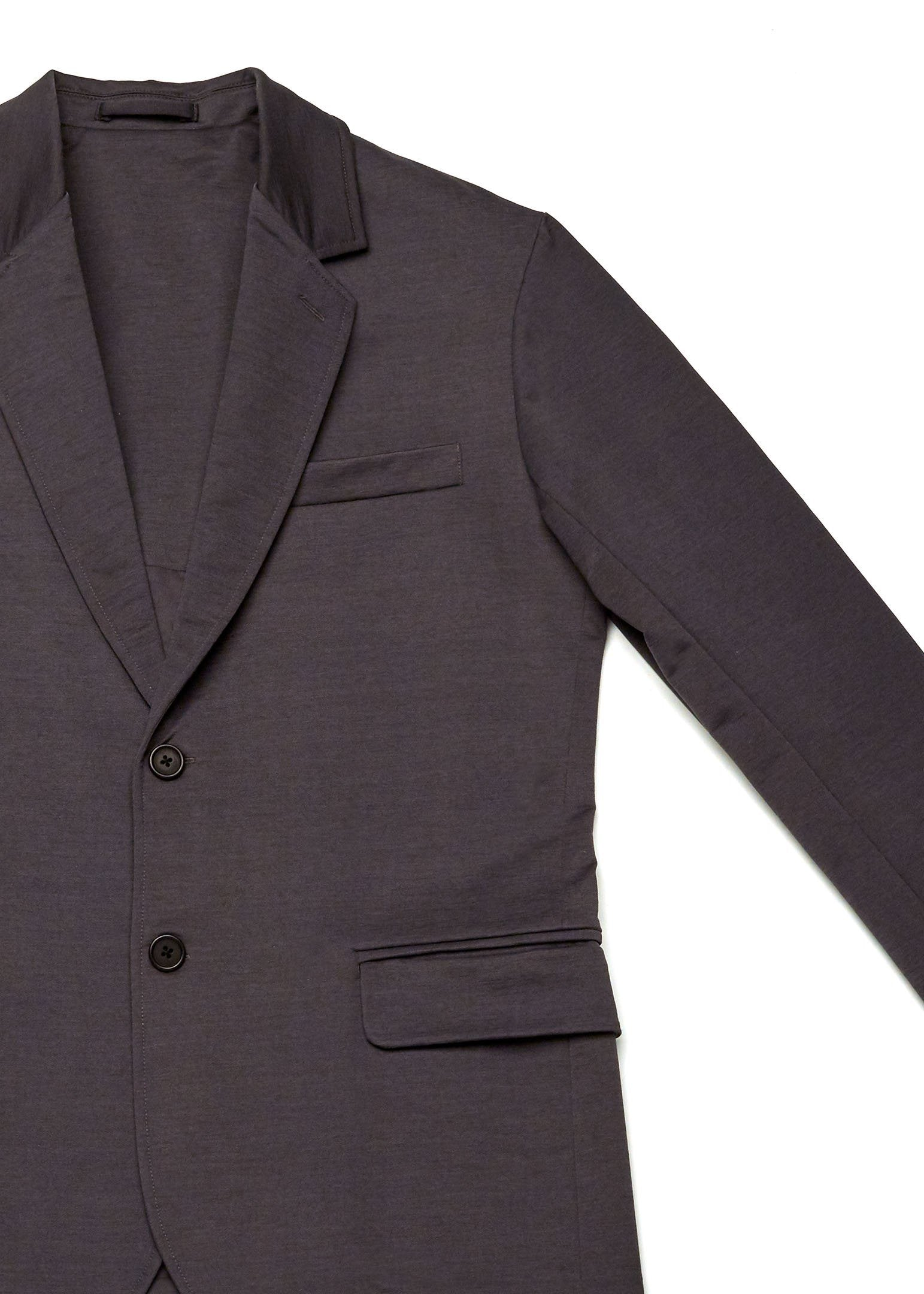 The Two Button Stretch Suit Jacket | Charcoal Grey