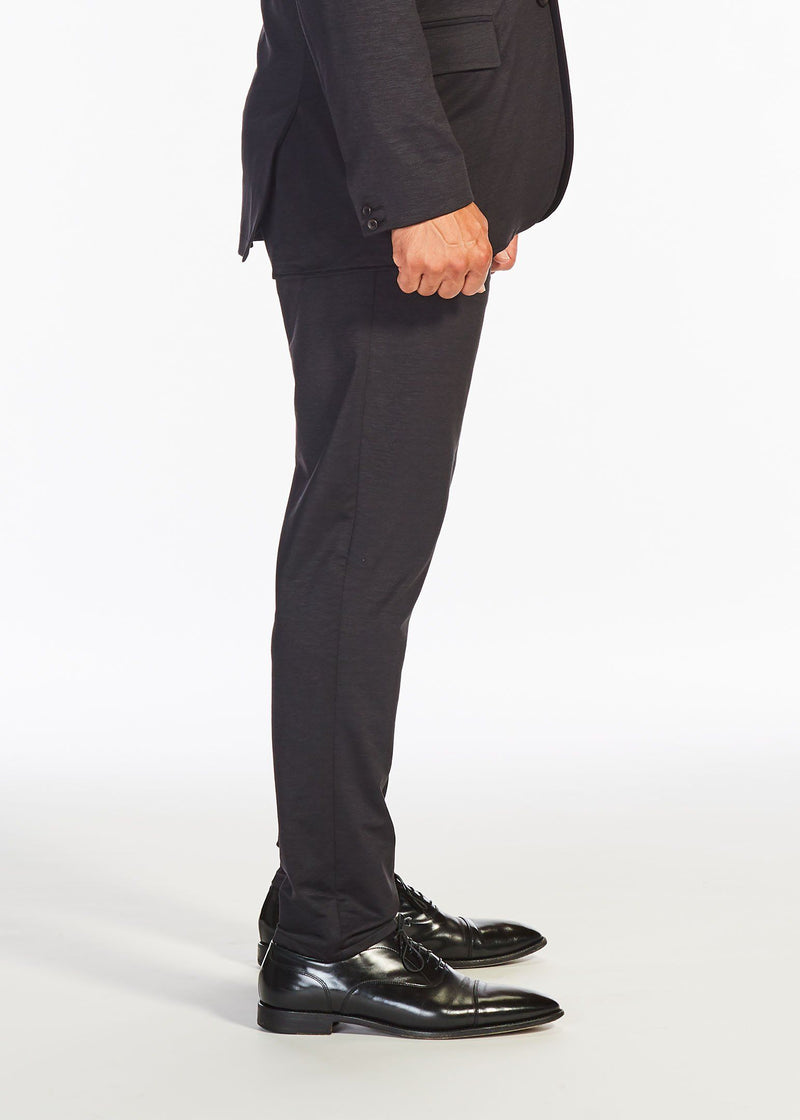 The Flat Front Stretch Suit Pants | Black