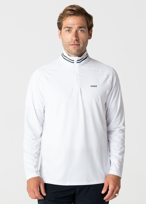 SWET Quarter Zip | White