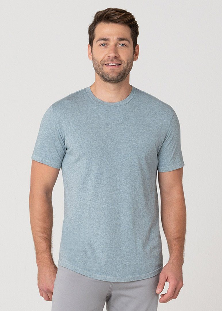 Softest T | Heather Aqua Blue