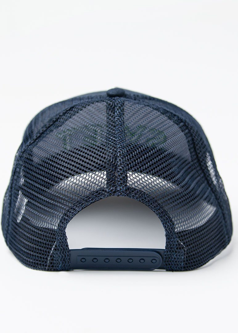 SWET Mesh Hat | Navy with Green Embroidery