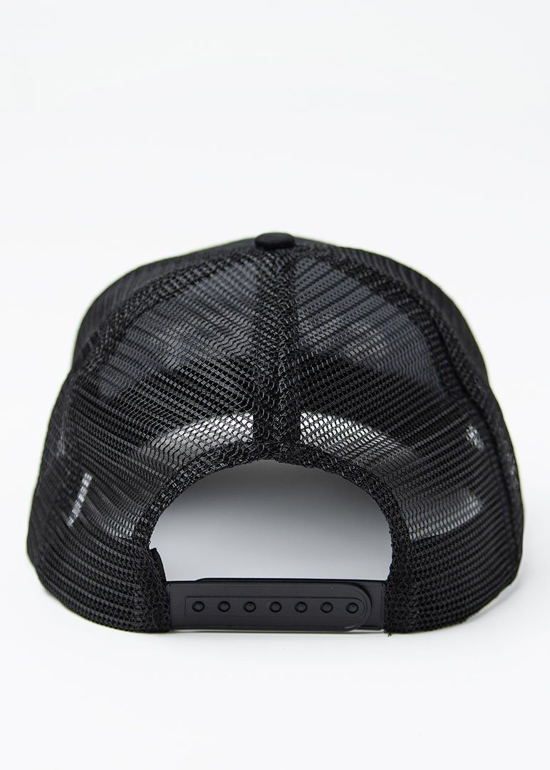 SWET Mesh Hat | Black with White Embroidery