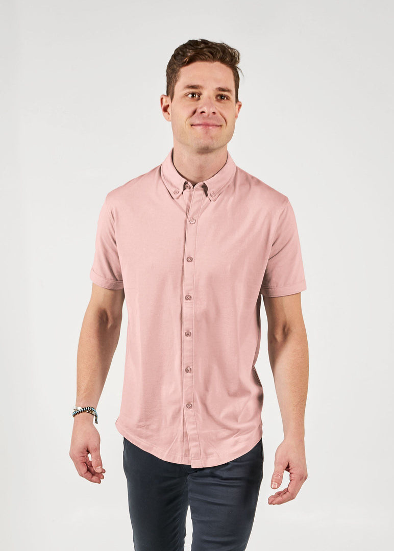 Short Sleeve Mindful Shirt | Pearl Blush