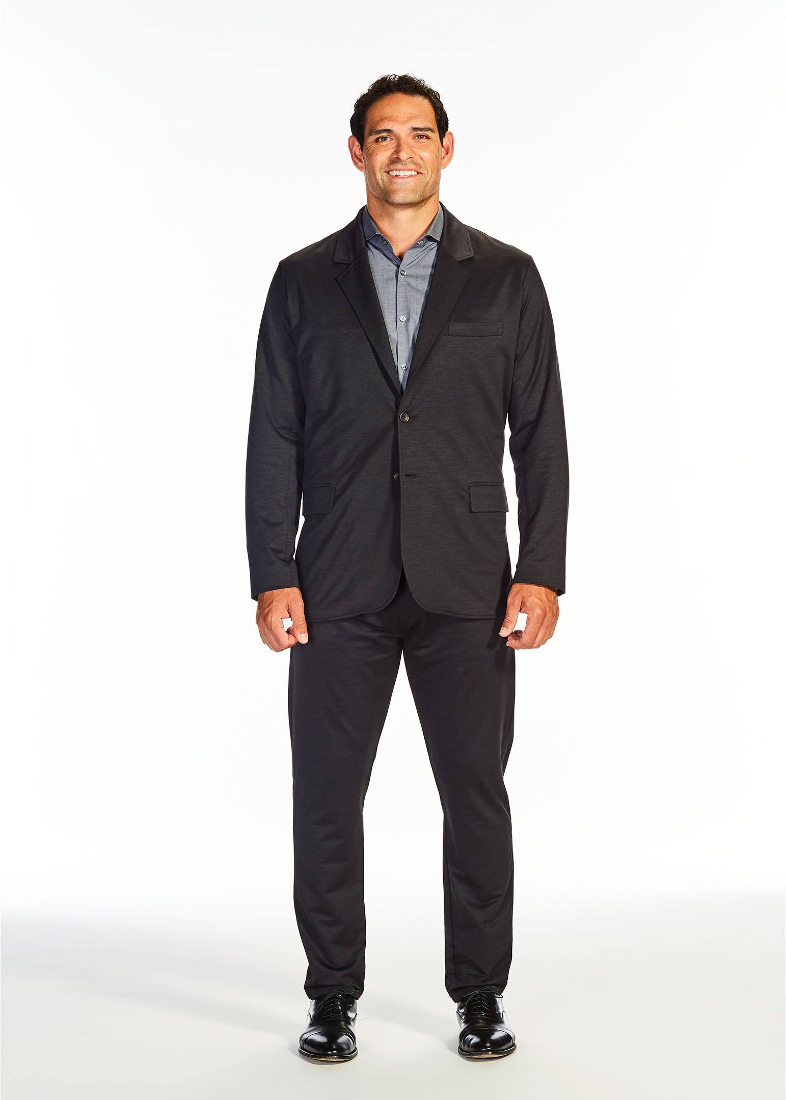The Two Button Stretch Suit Jacket | Black