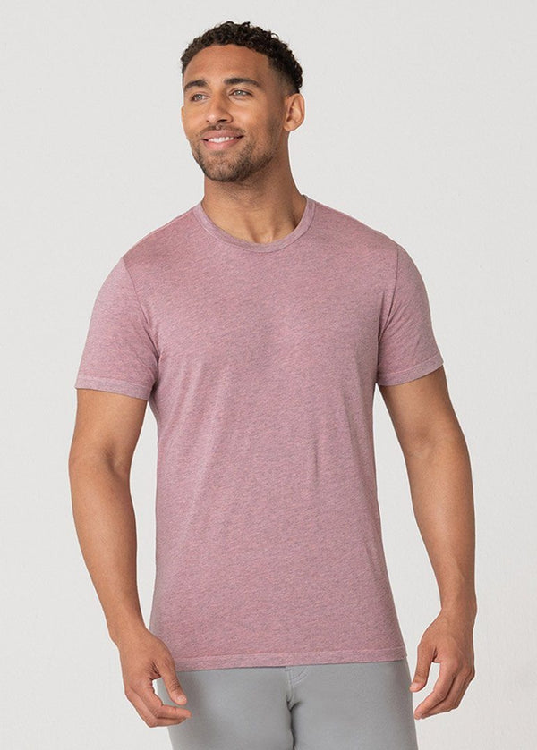 Softest T | Heather Guava Pink