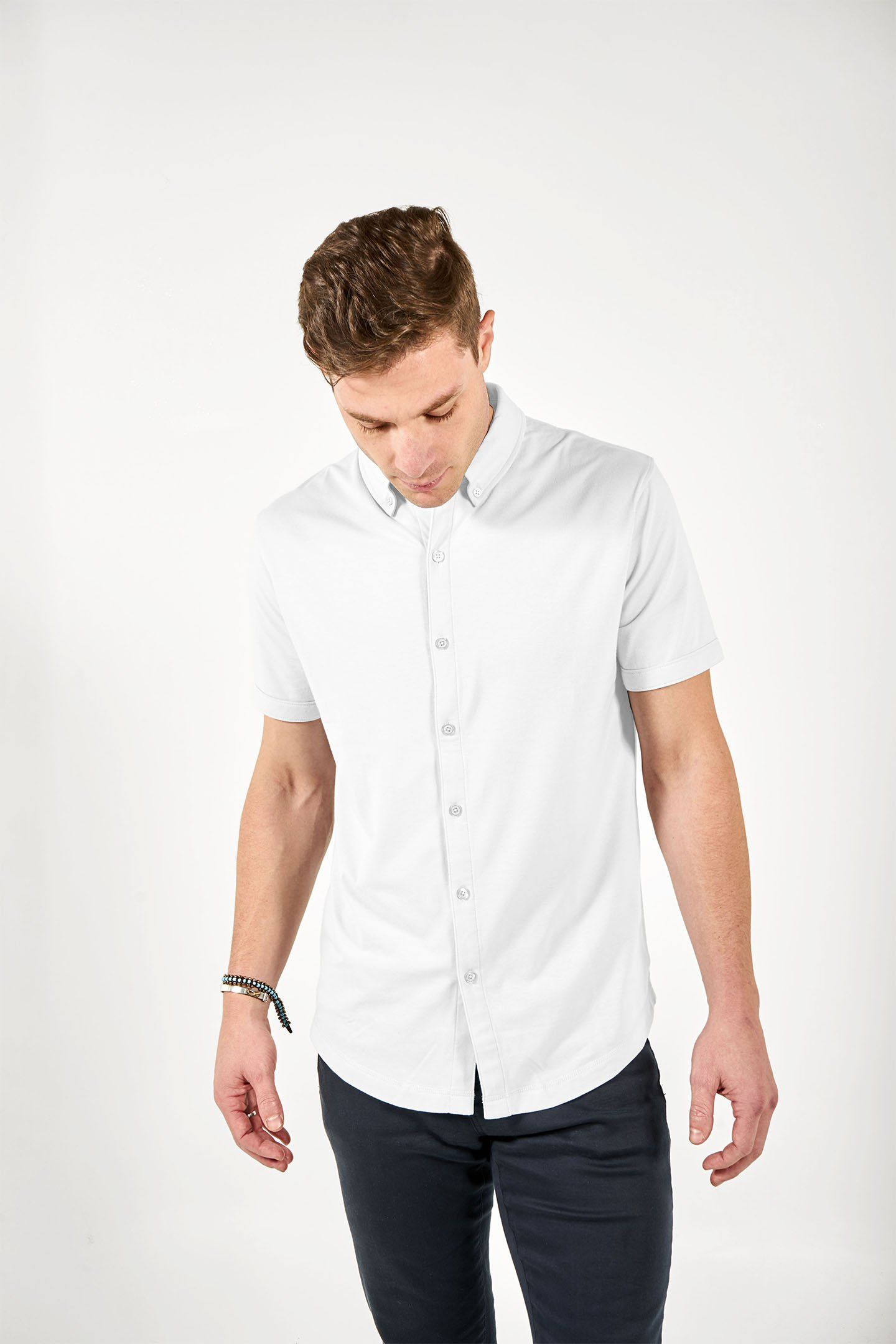 Short Sleeve Mindful Shirt | White