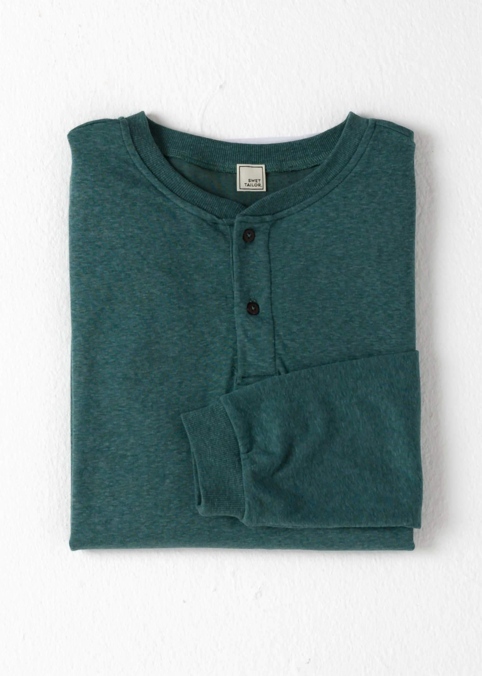 Under/Over Henley | Green Heather