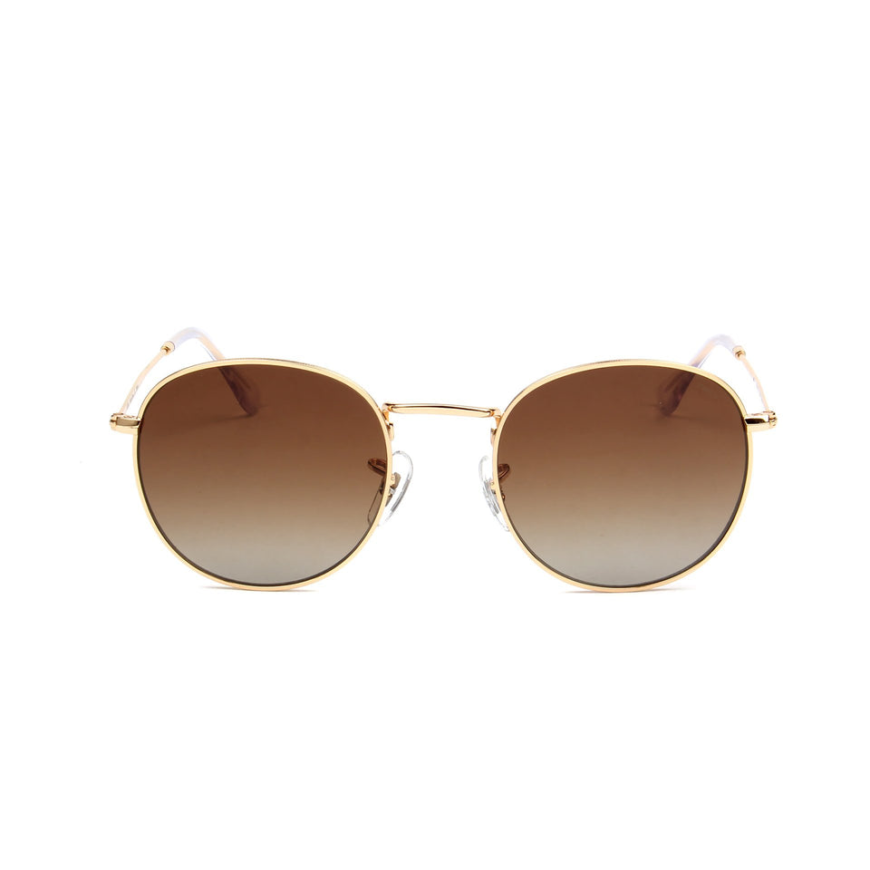 Monte Carlo Gold - Front View - Brown Gradient lens - Mawu sunglasses