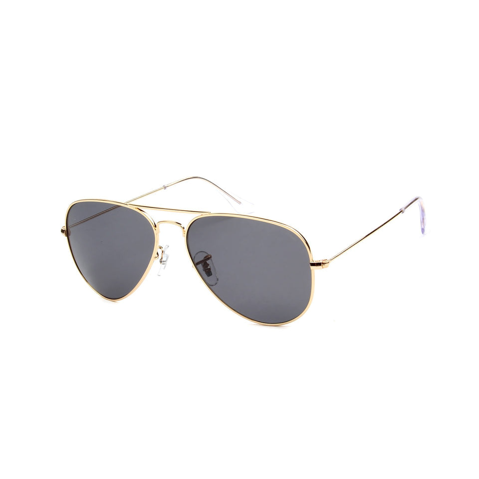 Rafale Gold - Angle View - Dark Grey lens - Mawu sunglasses