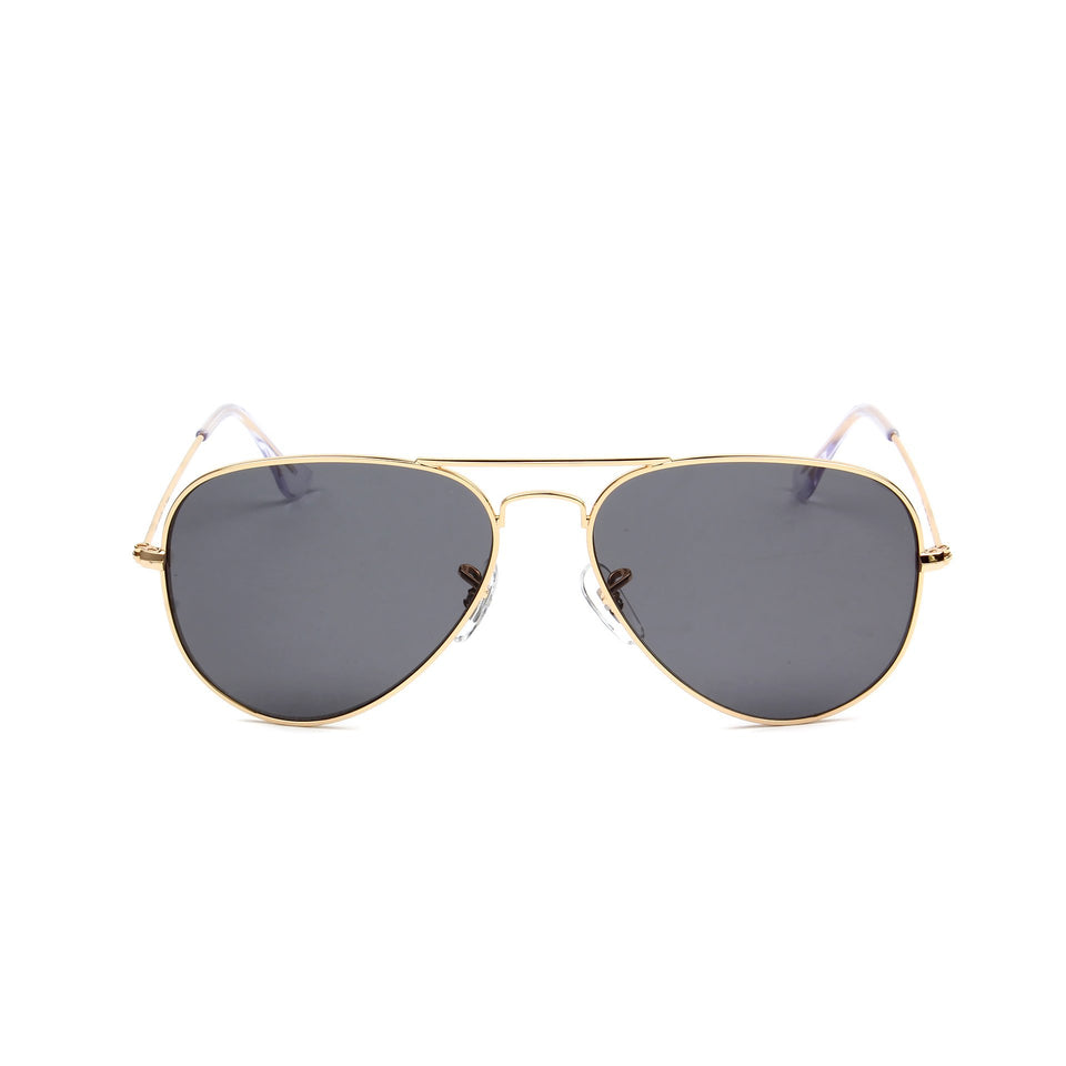 Rafale Gold - Front View - Dark Grey lens - Mawu sunglasses