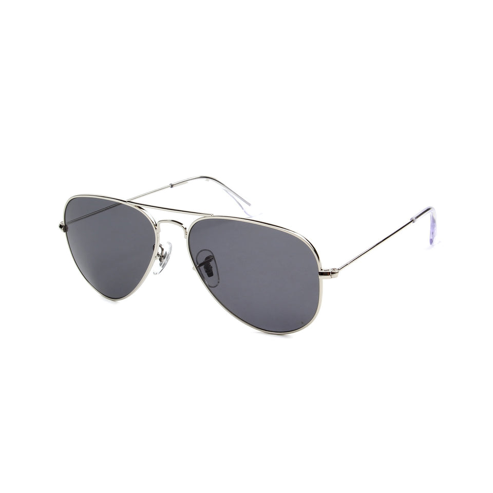 Rafale Silver - Angle View - Dark Grey lens - Mawu sunglasses