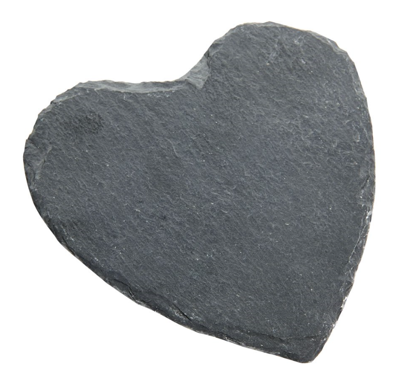Slate Heart Candle Plate - Scented Sensations