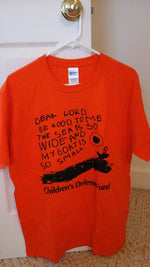 Orange CDF logo t-shirt (Adult small size only)