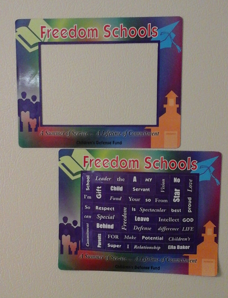 Freedom Schools® program magnetic frame and poetry words