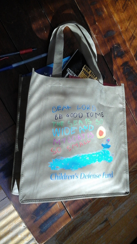 Children's Defense Fund logo tote bag