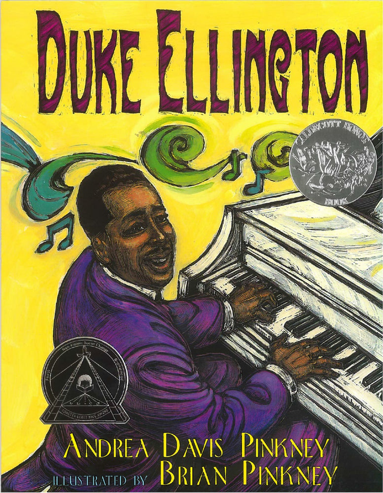 Duke Ellington by Andrea Davis Pinkney, illustrated by Brian Pinkey