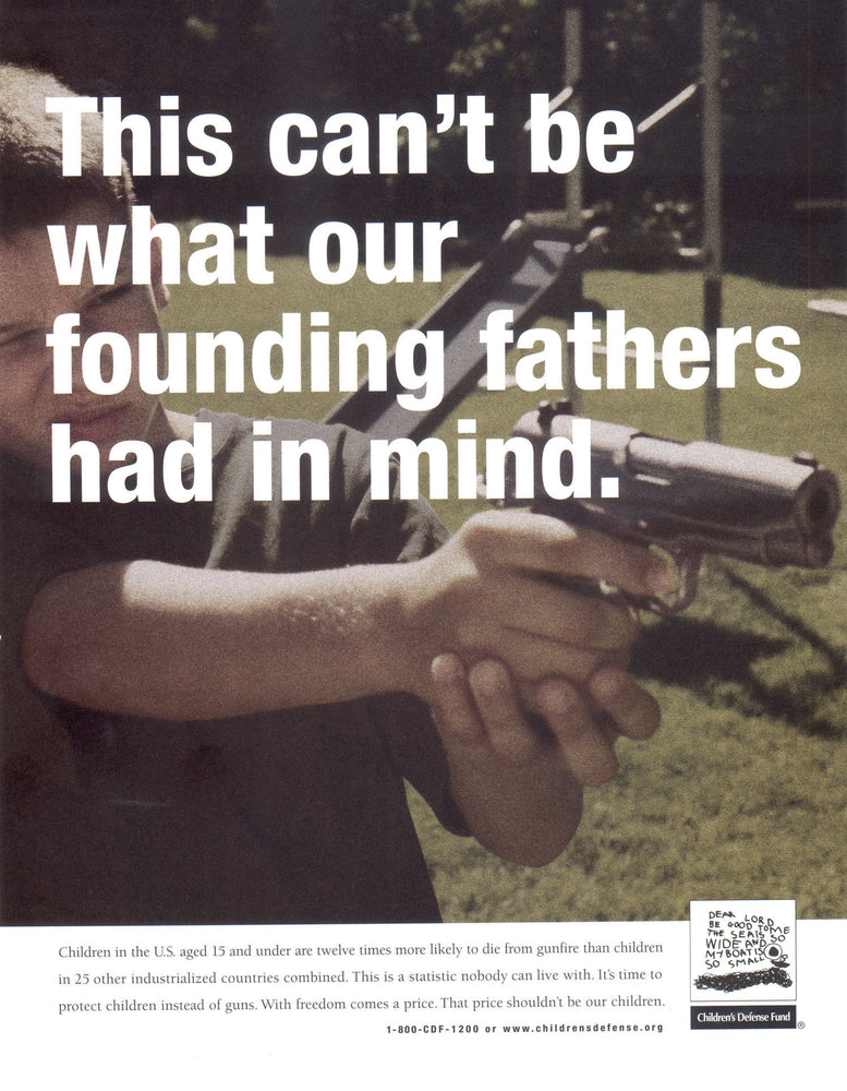 Handgun on a Playground Poster