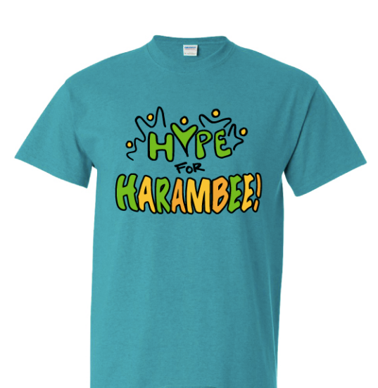 Hype for Harambee! t-shirt (Extra large and Triple extra large Adult sizes only)