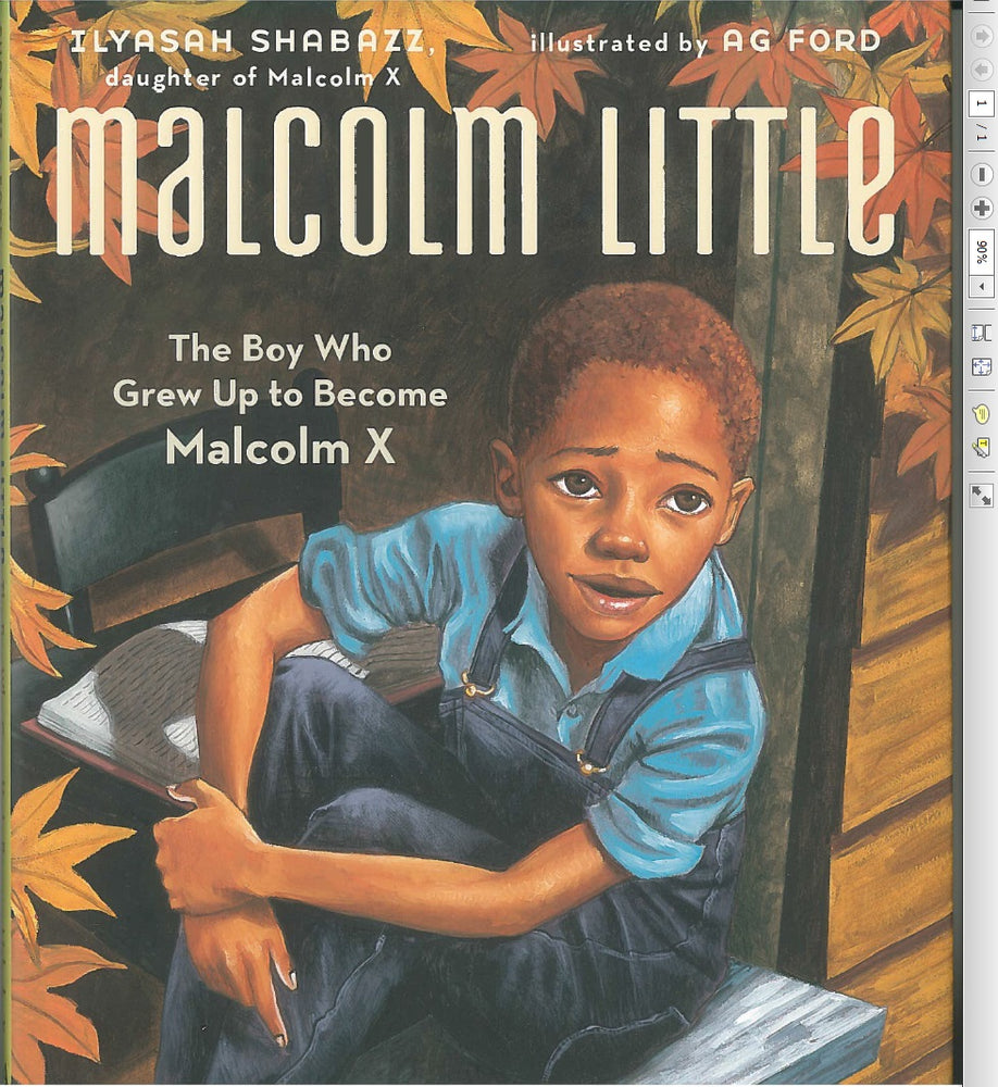 Malcolm Little: The Boy who Grew Up to become Malcolm X by Ilyasha Shabazz, illustrated by Ag Ford