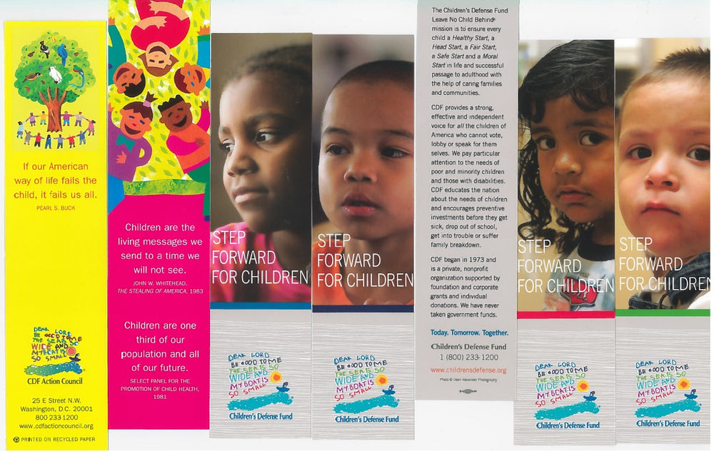 Set of 5 bookmarks from the variety available through the Children's Defense Fund