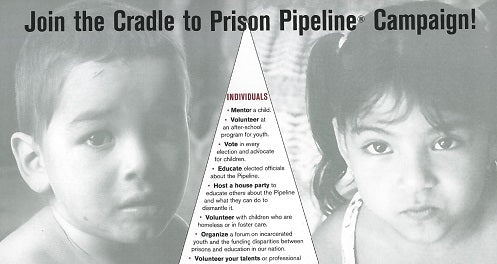Join the Cradle to Prison Pipeline® Campaign Poster
