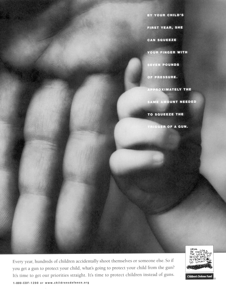 One-Year-Old Squeezing Your Finger Poster