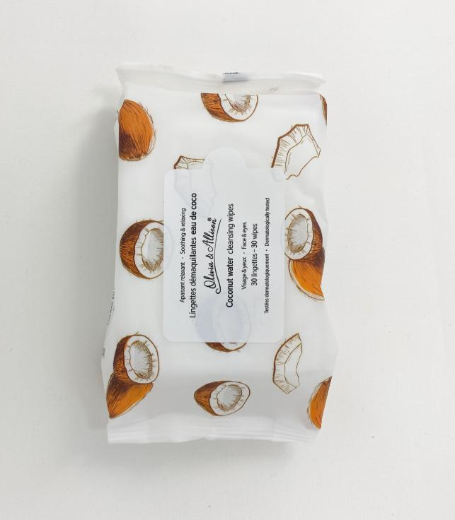 Olivia & Allison Coconut Water Cleansing Wipes