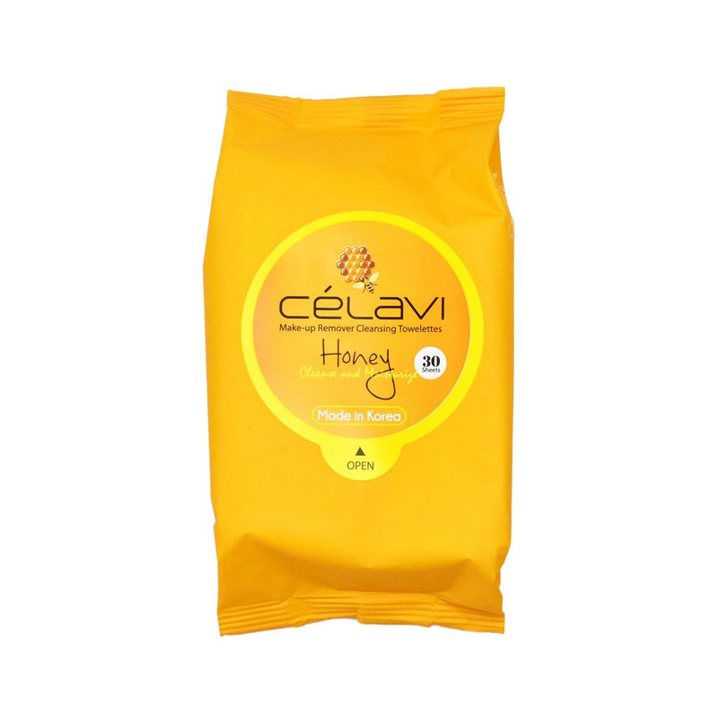 Celavi Makeup Remover Cleansing Towelettes (Honey)