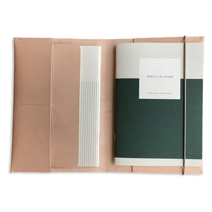 Leather Case & Planner Set
