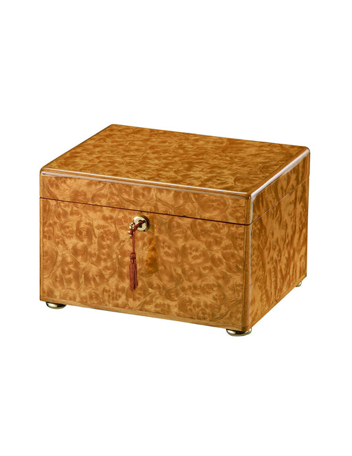 Tranquility - Light Burl Chest Cremation Urn