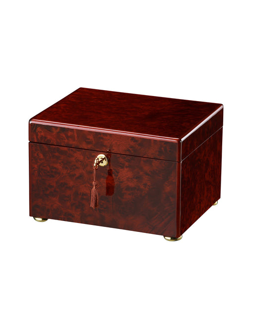 Tranquility - Dark Burl Chest Urn Cremation Urn