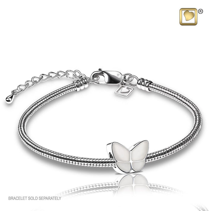 BEAD Wings Of Hope™ Pearl Enamel Rhodium Plated