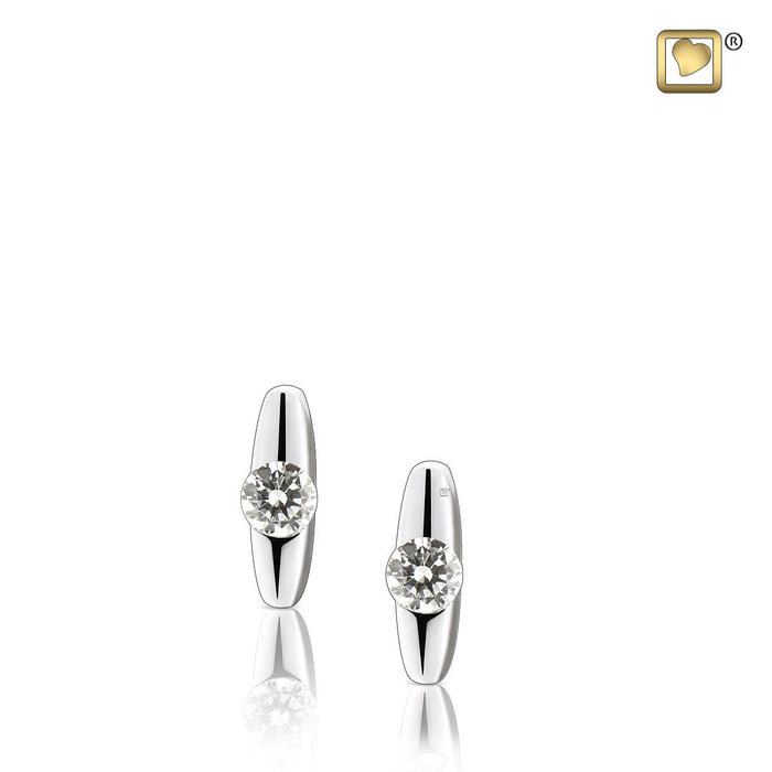 STUD EARRINGS Hope™ Rhodium Plated with Clear Crystal