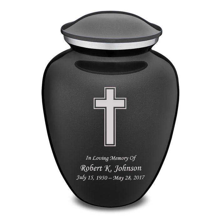 Adult Embrace Simple Cross Cremation Urn