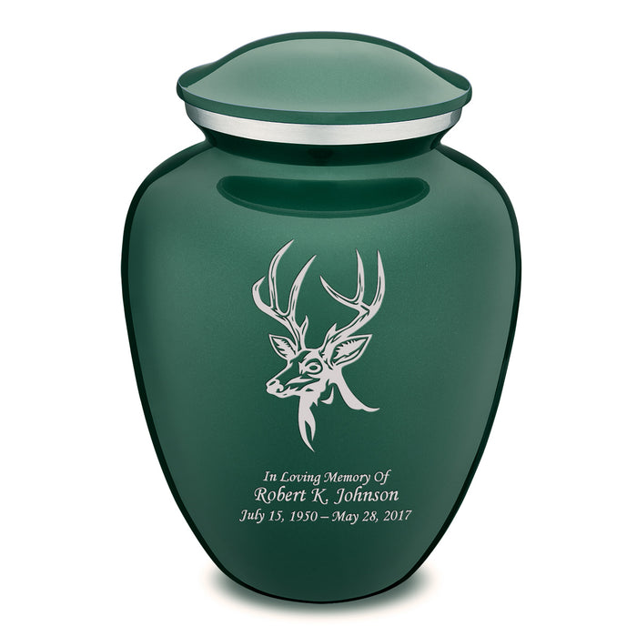 Adult Embrace Deer Cremation Urn