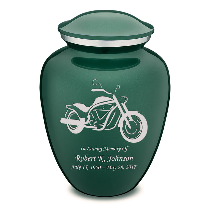Adult Embrace Motorcycle Cremation Urn
