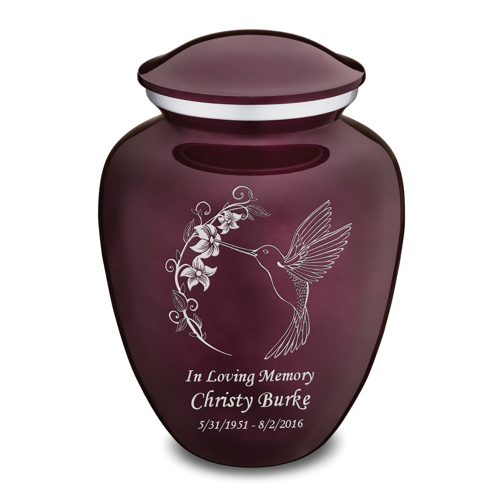 Adult Embrace Hummingbird Cremation Urn