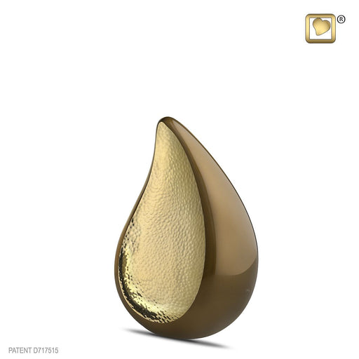 MEDIUM TEARDROP™ HAMMERED GOLD BRONZE