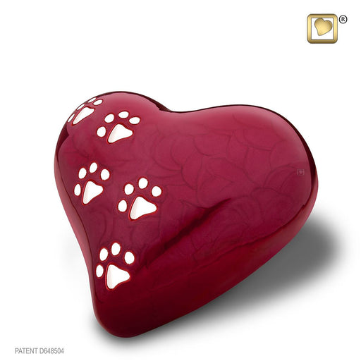 HEART PEARLESCENT RED MEDIUM