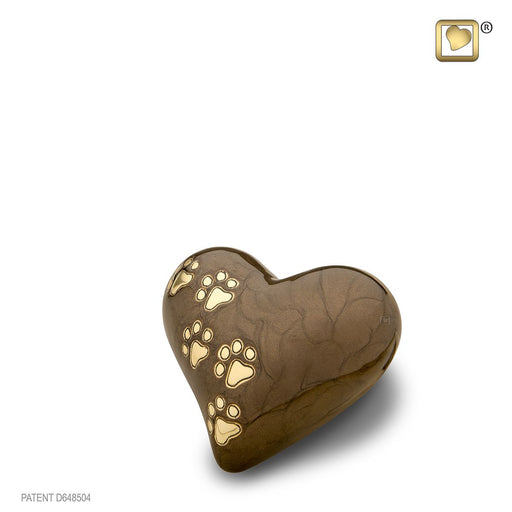 HEART PEARLESCENT BRONZE SMALL