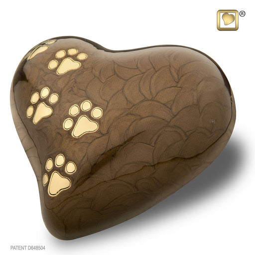 HEART PEARLESCENT BRONZE LARGE