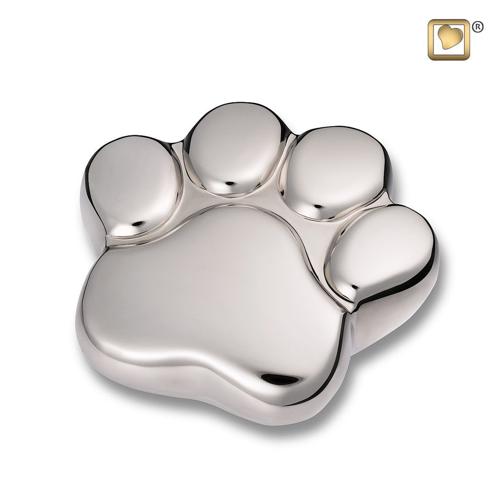 Paw Keepsake Shiny Silver